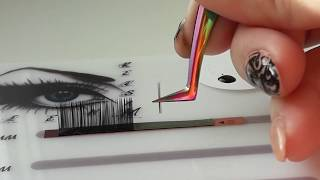 Как сформировать пучки 2D,3D,4D! Формирование пучков с ленты, Разными пинцетами.