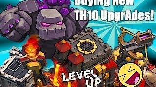 Clash of clans - Buying TH 10, Inferno tower, Golem lvl 5 ect. UPGRADES