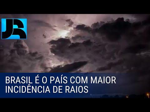 Brasil é o país com maior incidência de raios no mundo