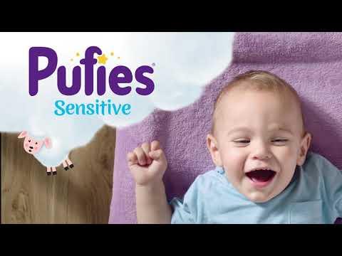Хипоалергенни бебешки мокри кърпички Sensitive, 64 бр. Pufies  2