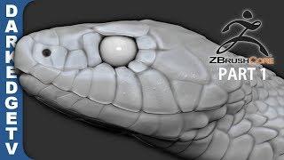 Garden Snake SCULPTING - ZBrushCore SpeedSculpt