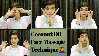 Do This Coconut Oil Face Massage For 5 Minutes & Look 10 Years Younger & Glowing || Face massage