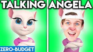 TALKING ANGELA WITH ZERO BUDGET! (Talking Tom ANIMATION PARODY By LANKYBOX!)