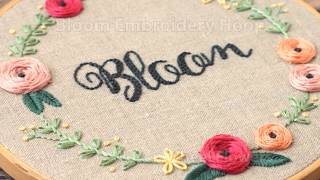 Bloom Embroidery Hoop, Video 3 - Woven Wheel Embroidered Flowers