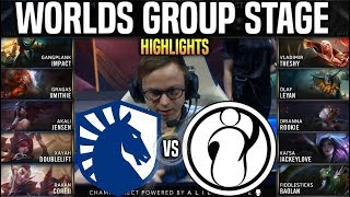 TL vs IG Highlights Worlds 2019 Group Stage Day 2 - Team Liquid vs Invictus Gaming Highlights Worlds