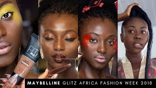 ALL THE ACTION WITH MAYBELLINE BACKSTAGE  at GLITZ FASHION WEEK 18  | JES VLOGS