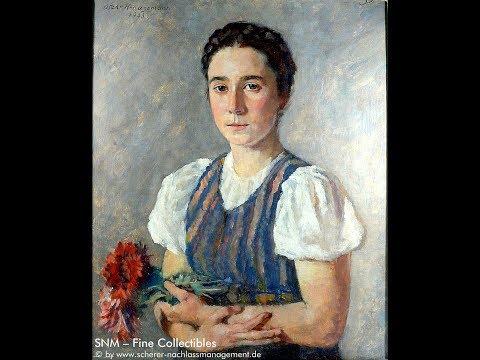 Oscar H. Hagemann, Gemälde, Deutsches Mädchen