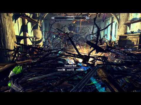 The Fastest Way To Melt Skyrim? A Room Full Of Swords And A Shout.