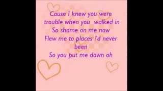 i knew you were trouble taylor swift lyrics