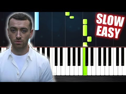 Sam Smith - Too Good At Goodbyes - SLOW EASY Piano Tutorial by PlutaX