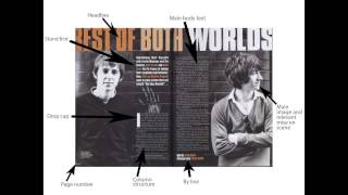 Media Analysis Magazine Double Page Spreads