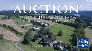 AUCTION Historic Tullamore Farm on 207.8+/- Preserved Acres in Delaware Township NJ