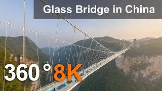 Zhangjiajie Glass Bridge, China. 360 aerial video in 8K