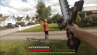 Minecraft In Real Life Part 1- PVP