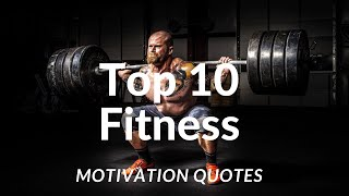 TOP 10 MOST POWERFULL FITNESS MOTIVATIONAL QUOTES || CRUSH QUOTES