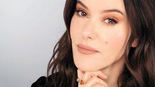 Peachy Caramel Tonal Makeup Look