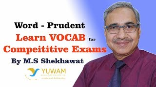 PRUDENT | Yuwam | High Level Vocab | English | Man Singh Shekhawat | Vocab for Competitive Exams
