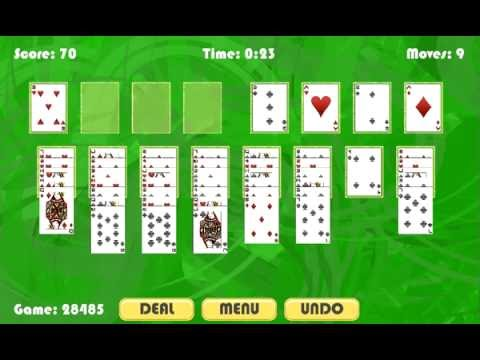 Simple FreeCell Solitaire Gameplay by Dutka Games