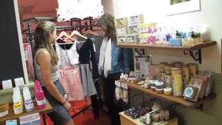 Sierra visits the Oh My Goddess eco fashion line