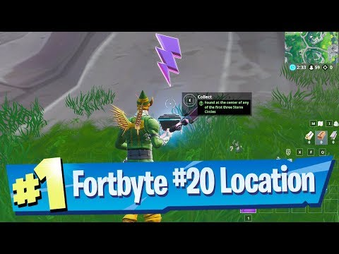 Fortnite Fortbyte #20 Location - Found at the center of any of the first three Storm Circles