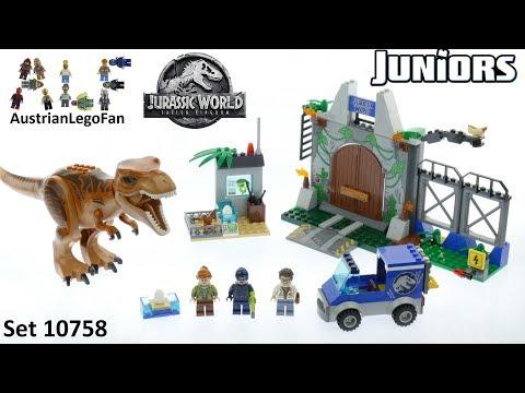 Vidéo LEGO Juniors 10758 : L'évasion du tyrannosaure (Jurassic World)
