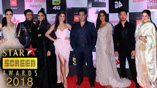 Star Screen Awards 2018 Full Show HD Red Carpet | Salman,Katrina,Jacqueline,Ranveer,Deepika,Tiger