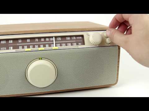 Sangean WR-12BT WR12 FM / AM / Aux-in / Bluetooth Wooden Cabinet Receiver image 1