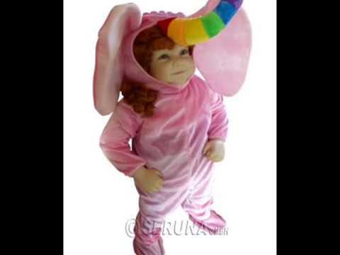 F86 Rosa Baby Elefant Fasching Karneval Kostüme Faschingskostüm Babykostüm Elefanten Karnevalskostüm
