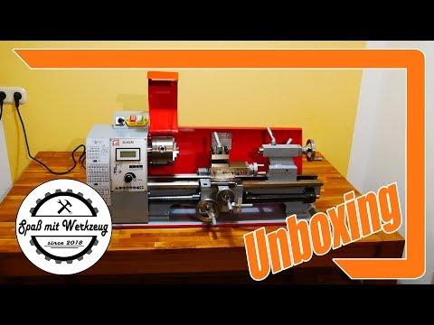 Holzmann Drehmaschine ED400FD Unboxing + erster Eindruck