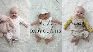BABY GIRL CLOTHING HAUL AND OUTFITS 4 - 12 WEEKS