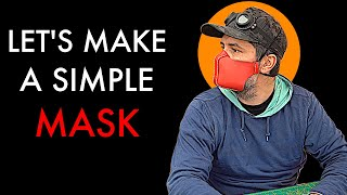 How To Make A Simple  Leather Mask - Free Pattern Giveaway