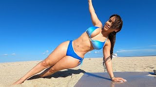Sexy Bikini Abs Plank Workout Challenge!!