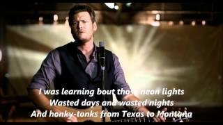 Blake Shelton Good Country Song with Lyrics