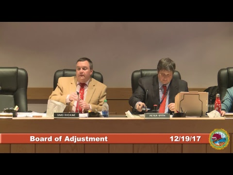 Board of Adjustment 12.19.17