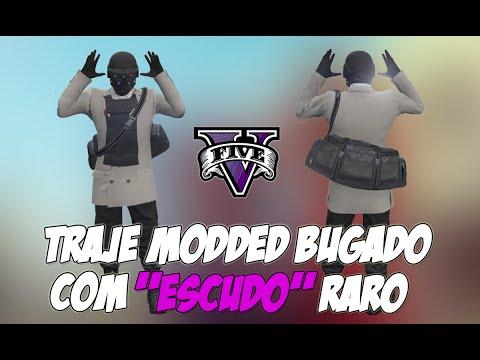GTA V ONLINE: TRAJE MODDED COM ''ESCUDO''+TRANSFERIR BOLSA DOS GOLPES - 1.27(TALVEZ)/1.35