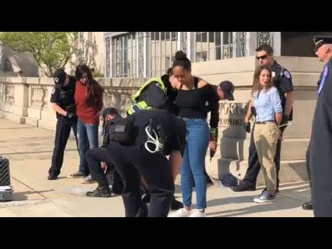 Download 4 High School Women Arrested in Gun Control Protest Outside Paul Ryan's Office HD Mp4 3GP Video and MP3