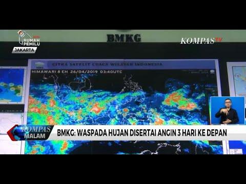 BMKG: Waspada Hujan Disertai Angin 3 Hari ke Depan