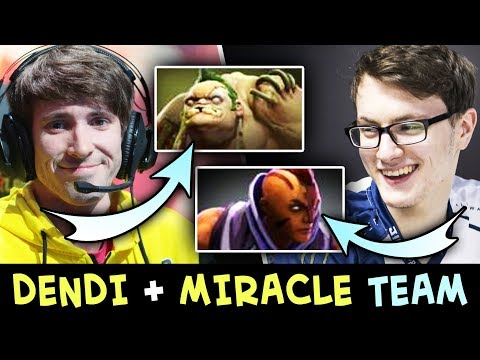 DENDI and MIRACLE picked BEST HEROES — Pudge + Anti-Mage in SAME TEAM