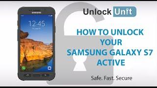HOW TO UNLOCK Samsung Galaxy S7 Active