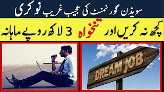 World's Most Craziest Job Do Nothing & Get Highly Paid