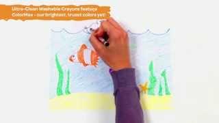 Crayola KREDKI ŚWIECOWE ZMYWALNE Prezentacja