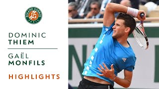 Dominic Thiem Vs Gaël Monfils - Round 4 Highlights | Roland-Garros 2019