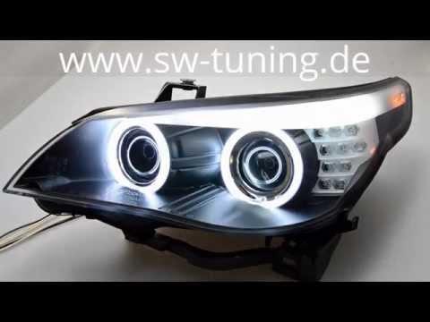 Angel Eye Scheinwerfer für BMW 5er E60/E61 03-07 CCFL-SLR black SW-Tuning