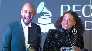 Alicia Keys & Swizz Beatz Receive Producers & Engineers Wing Award  | 60th GRAMMYs