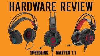 Hardware Review: Speedlink Maxter 7.1 Surround USB Gaming Headset