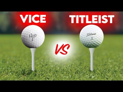VICE GOLF PRO+ Guerrilla Golf Ball Testing vs Pro-V1