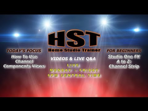 Home Studio Trainer Live: Channel Components Views)   FX A to Z: Channel Strip