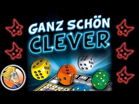 Ganz schön clever — rules explanation and solo playthrough