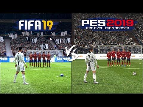 FIFA 19 vs PES 2019 | Free Kicks Comparison