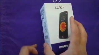 LG K7 Unboxing and First Look For Metro PcsT-mobile